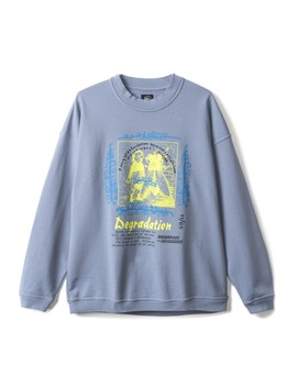 Brain Dead Degradation Crewneck (Blue) by Dover Street Market