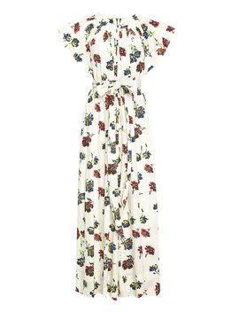 Ulla Johnson Coralie Jumpsuit   Cream Floral by Garmentory