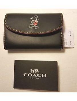 Coach Disney Key Case Black Leather by Coach
