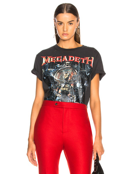 Distressed Megadeth Tee by R13