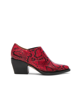 Rylee Python Print Leather Ankle Boots by Chloe