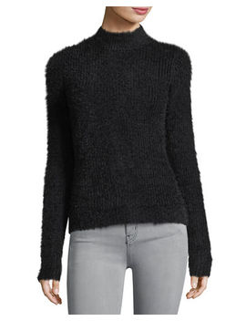 Fuzzy Mock Neck Sweater by Marled By Reunited