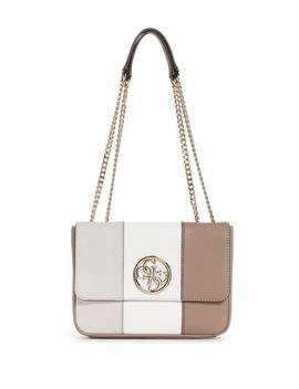Ryann Quilted Color Block Shoulder Bag by Guess