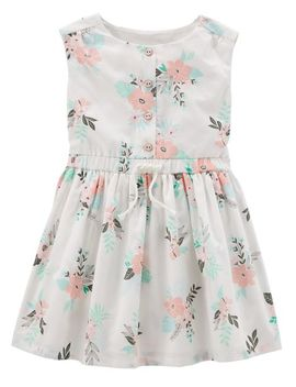 Sleeveless Floral Woven Dress by Oshkosh