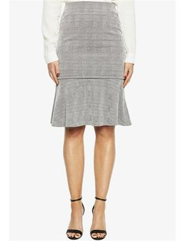 Zip Check Skirt by Bardot