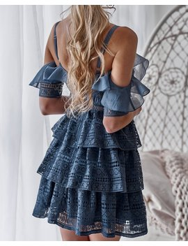 Charlotte Dress   Steel Blue by Born To Be Chic