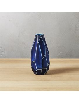 Dawson Blue Vase by Crate&Barrel