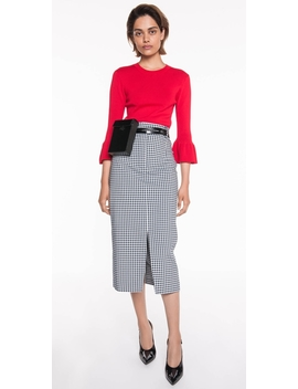 Gingham Midi Skirt by Cue