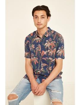Wrangler Garageland Ss Shirt Blue Floral by Universal Store