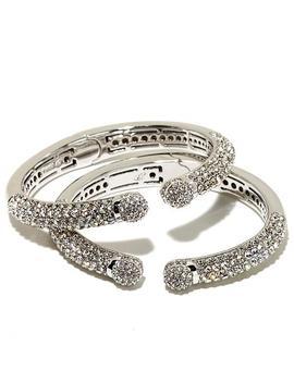 """Joan Boyce Set Of 2 """"Mini Kissable"""" Cuff Bracelets by Joan Boyce"""