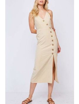 Beige Midi Dress by Glam Expressway, Brooklyn