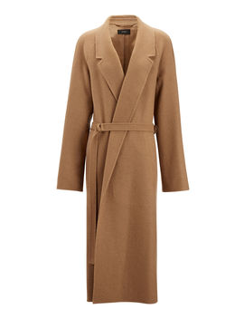 Solferino Camel Hair Coat by Joseph