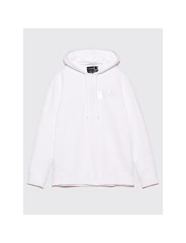 Raf Simons X Fred Perry Tape Detail Hooded Sweatshirt White by Très Bien
