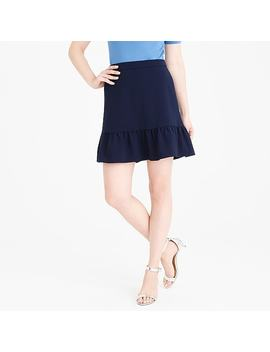 Flounce Mini Skirt by J.Crew