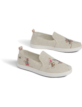 Disney X Toms Taupe Gus & Jaq Women's Deconstructed Alpargatas by Toms