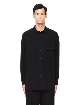 Black Cotton Shirt by Ziggy Chen