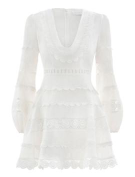Castile Plunge Short Dress by Zimmermann
