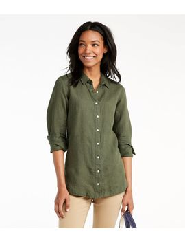 Premium Washable Linen Button Front Tunic by L.L.Bean