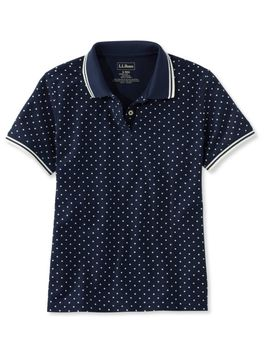Premium Double L® Polo, Relaxed Fit Short Sleeve Dot by L.L.Bean