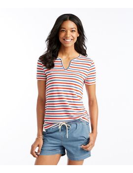Signature Linen/Modal Splitneck Tee by L.L.Bean