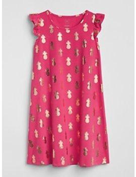Metallic Pineapple Pj Dress by Gap