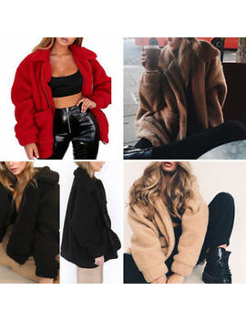 Bf Fashion Women Lady Casual Faux Fur Coat Winter Warm Loose Coat Jackets Hot by Unbranded