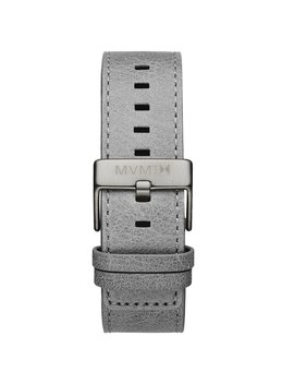 24mm Light Grey Leather by Mvmt