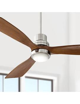 "52"" Casa Delta Wing™ Brushed Nickel Led Ceiling Fan by Lamps Plus"