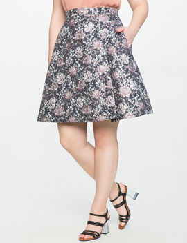 Studio Floral Pleat Skirt by Eloquii