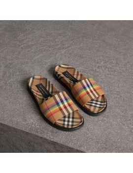 Rainbow Vintage Check Slides by Burberry