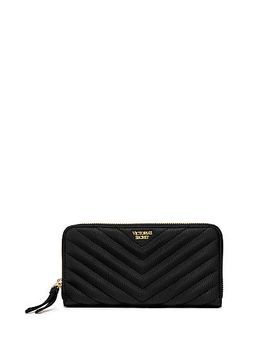 Pebbled V Quilt Zip Wallet by Victoria's Secret