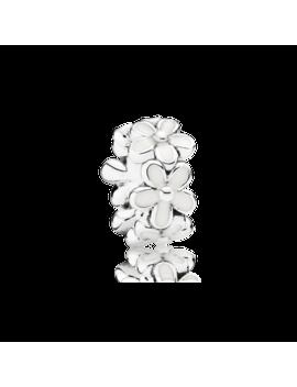 Darling Daisies Spacer, White Enamel by Pandora