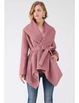Prairie Rabato Coat In Pink by Chicwish