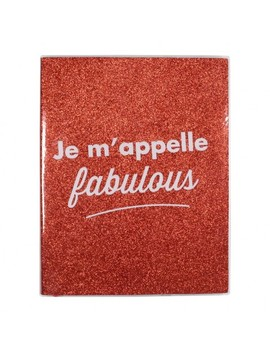 Je M'appelle Fabulous Red Glitter Lined Notebook by Paperchase