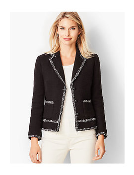 Tweed Trim Jacket by Talbots