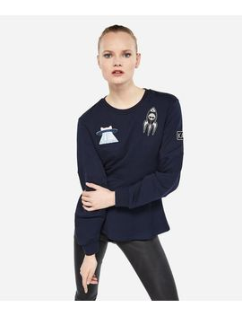 Karl Space Peplum Sweatshirt by Karl Legerfeld
