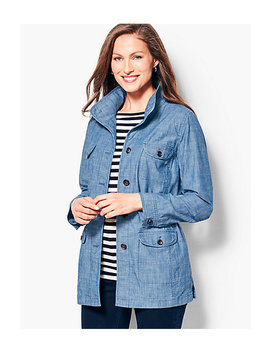 Twill Shirt Jacket   Chambray by Talbots