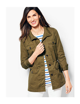 Twill Shirt Jacket by Talbots