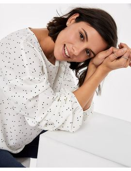 Balloon Sleeve Printed Blouse by Reitmans