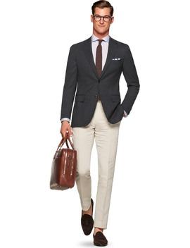 Havana Jacket Grey Plain by Suitsupply