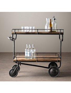 Warehouse Trolley Bar Cart by Restoration Hardware