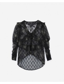 Black Polka Dot Lace Top Black Polka Dot Lace Top by The Kooples
