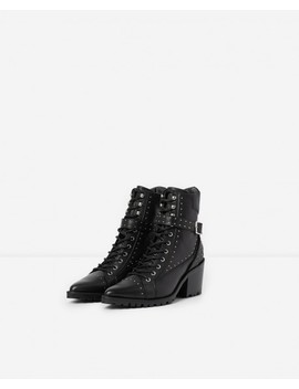 Black Studded Leather Boots Black Studded Leather Boots by The Kooples
