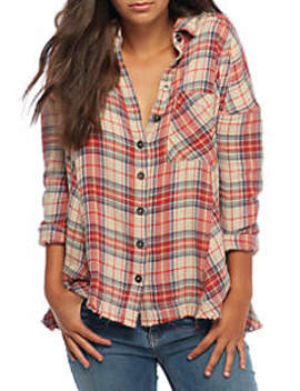 Juniper Ridge Plaid Button Down Shirt by Free People