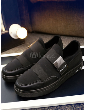 Men's Skate Shoes Round Toe Bandage Patchwork Metallic Detail Casual Shoes by Milanoo