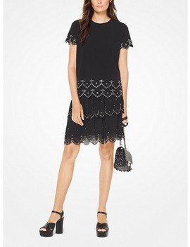 Grommeted Eyelet Matte Jersey Top by Michael Michael Kors