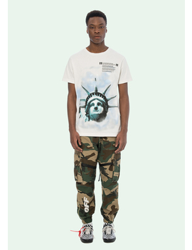 White Liberty S/S T Shirt by Off White