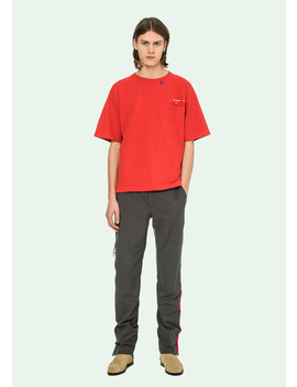 Red 80s Vintage S/S T Shirt by Off White