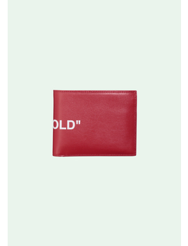 Red Quote Wallet by Off White