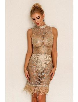 Rayna Dress   Gold by Want My Look